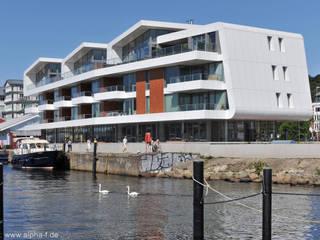 Büro- und Wohngebäude, Flensburg Moderne Häuser von Architektenbüro Lorenzen, Freischaffende Architekten BDA Modern