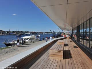 Büro- und Wohngebäude, Flensburg Moderner Balkon, Veranda & Terrasse von Architektenbüro Lorenzen, Freischaffende Architekten BDA Modern