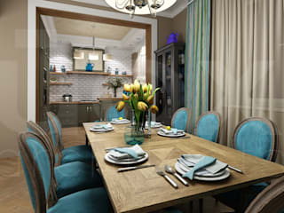 ЙОХ architects Eclectic style kitchen