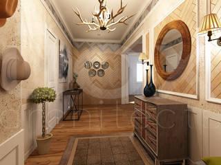 ЙОХ architects Eclectic style corridor, hallway & stairs