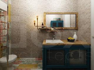 """Коттедж """"Голубое озеро"""": Ванные комнаты в . Автор – ЙОХ architects"""