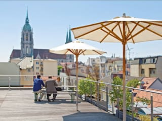 Dachterrasse & Cafélounge Moderne Veranstaltungsorte von allynet Modern