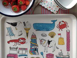 Seaside Fun Large Tray:   by New House Textiles Ltd