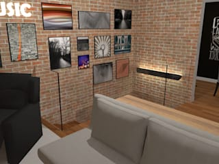 de estilo industrial por Carolina Mendonça Projetos de Arquitetura e Interiores LTDA, Industrial