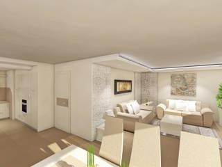 Ricostruzione della casa - villetta Cucina moderna di ProAmbient Moderno