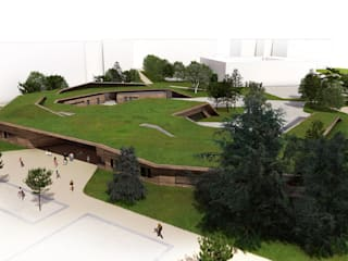 groupe scolaire de St Memmie Ecoles modernes par D3 architectes Moderne