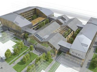 bureaux du SEPTEN EDF, Halle gerland Espaces de bureaux modernes par D3 architectes Moderne