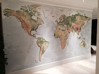 World Map Wallpaper Designs Wallpapered Paredes y suelosPapeles pintados