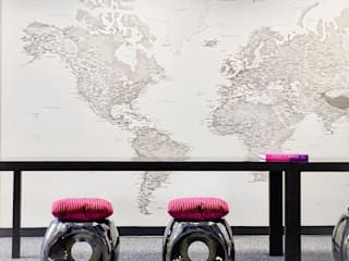 World Map Wallpaper Designs de Wallpapered Clásico