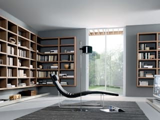 TV units with open display / Bookcases Oleh Lamco Design LTD Minimalis