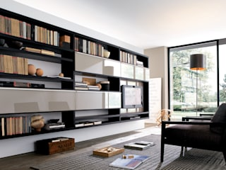 TV units with open display / Bookcases Lamco Design LTD Living roomTV stands & cabinets