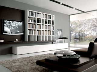 TV units with open display / Bookcases Lamco Design LTD WohnzimmerTV- und Mediamöbel