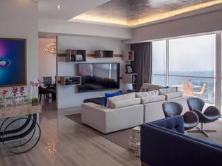 Salas de estilo  por kababie arquitectos
