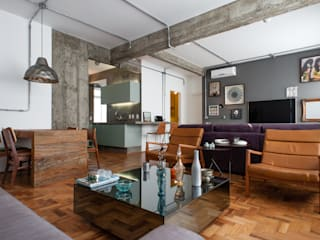 Industrial style living room by PM Arquitetura Industrial