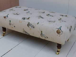 Voyage Decoration Footstools: country  by Herts Upholstery , Country