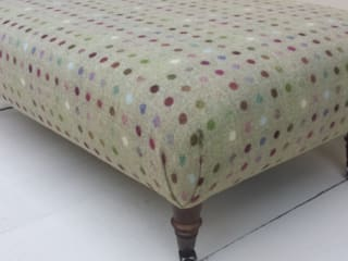 Moon 100% Wool Footstools : country  by Herts Upholstery , Country