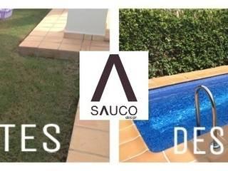 Espacio reducido Piscinas de estilo mediterráneo de SAUCO DESIGN S.L. Mediterráneo