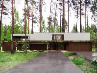Lustrzany dom Nowoczesne domy od REFORM Architekt Marcin Tomaszewski Nowoczesny