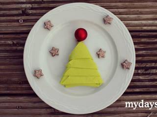Servietten falten - Weihnachtsdekoration selbst gemacht von mydays Ausgefallen