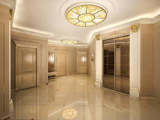 Corredores, halls e escadas clássicos por Дизайн студия 'Чехова и Компания' Clássico