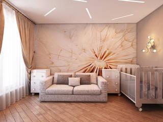 Квартира в стиле фьюжн: Детские комнаты в . Автор – Дизайн студия 'Чехова и Компания'
