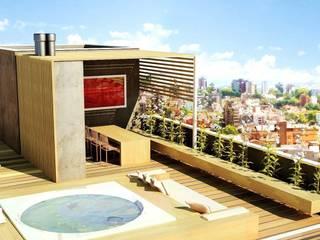 S17 LOFTS - Edificio Residencial Porto Alegre / Brasil hola Varandas, alpendres e terraços modernos