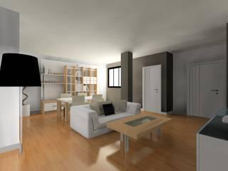 Rénovation d'un appartement datant des années 30: Salon de style  par In'Archy