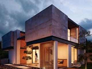 Fachada Posterior: Casas de estilo  por BANG arquitectura