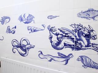 sea life:  Badkamer door José den Hartog
