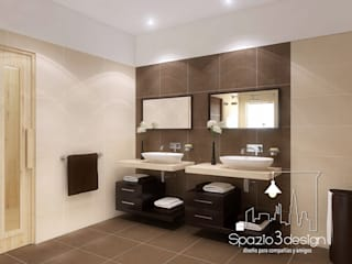 Minimalist style bathroom by Spazio3Design Minimalist