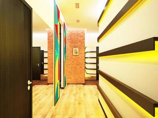 Дизайн студия Александра Скирды ВЕРСАЛЬПРОЕКТ Industrial style corridor, hallway and stairs