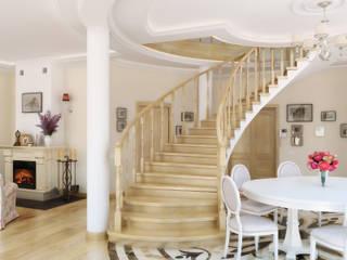 Classic style corridor, hallway and stairs by Дизайн студия Александра Скирды ВЕРСАЛЬПРОЕКТ Classic