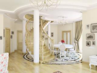 Дизайн студия Александра Скирды ВЕРСАЛЬПРОЕКТ Couloir, entrée, escaliers classiques
