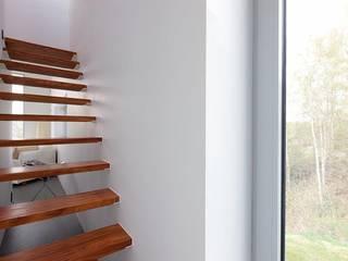 Atelier d'Architecture Geoffrey Noël Corridor, hallway & stairsStairs