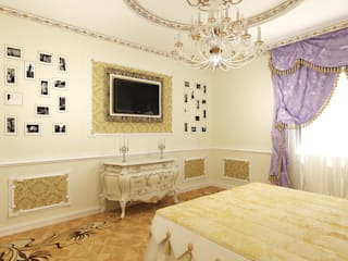 Дизайн студия Александра Скирды ВЕРСАЛЬПРОЕКТ Classic style bedroom