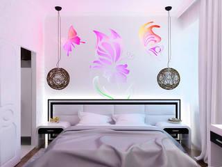 Eclectic style bedroom by Дизайн студия Александра Скирды ВЕРСАЛЬПРОЕКТ Eclectic