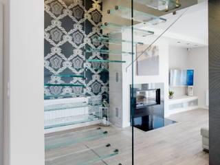 Koridor dan lorong oleh DK architektura wnętrz, Minimalis
