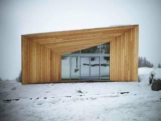 Pavillon d'accueil: Hôtels de style  par R Architecture