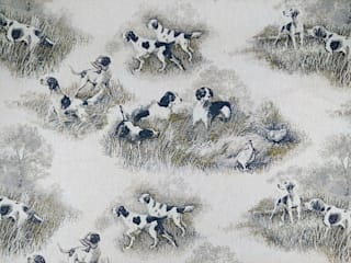 Hounds Linen Cotton Tapestry Fabric:   by The Millshop Online