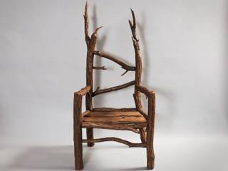 Stuhl aus Wildholz von Tuldok Rustikal