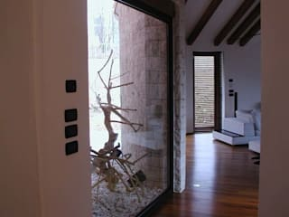 Modern Corridor, Hallway and Staircase by Serenella Pari design Modern