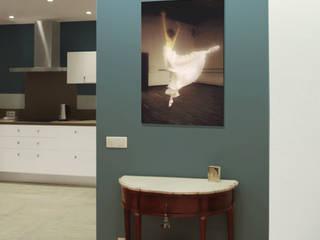 Rénovation d'un appartement de 93m² au Puy-en-Velay Salon moderne par BOURDELAIN Chloe Moderne
