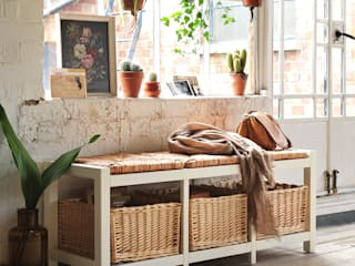 Farmhouse Ivory Wicker Storage Seat od The Cotswold Company Wiejski