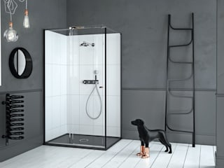 Mosc Slider Corner Black:   by Matki Showering