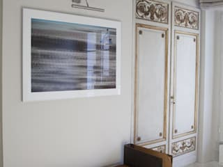 Duplex 2ème Salon moderne par STUDIO SANDRA HELLMANN Moderne