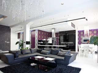 Glamour: styl , w kategorii Salon zaprojektowany przez KLIFF DESIGN