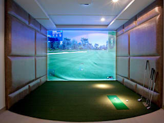 Home Golf Simulator: modern Gym by RBD Architecture & Interiors