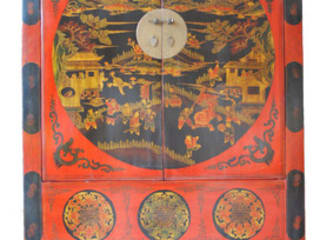 Beautifully Detailed Chinese Antique Large Cabinet c.1910:   by Shiraz Shic Interiors