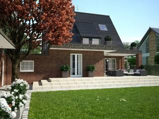 Hoffassade Perspektive 1:  Häuser von formforhome Architecture & Design