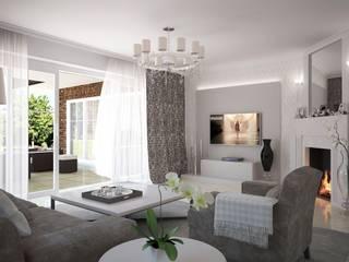 Wohnzimmer, Kaminzimmer:  Wohnzimmer von formforhome Architecture & Design